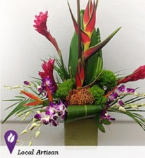 Lush Tropical Garden Orchids, Ginger, and More!