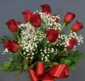 Love Rules Dozen Premium Roses in Vase