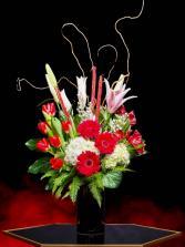 Luxe Red-Daisy Luxury Gerbera Daisy & Tulips Mix