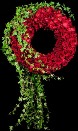 Luxe Roses Wreath Funeral Wreath