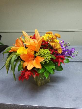 Luxurious Fall Vase arrangement