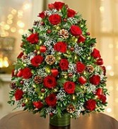 Luxurious Floral Christmas Tree Stunning Table Top Tree with Lights