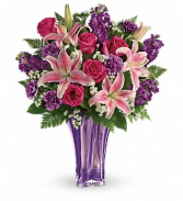 Luxurious lavender - 491  Vase arrangement