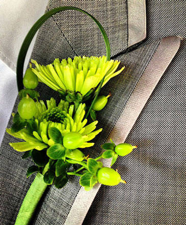 Luxurious Lime Boutonniere
