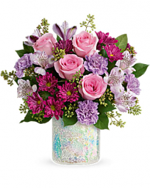 Luxurious Pink & Lavender  Vase Arrangement