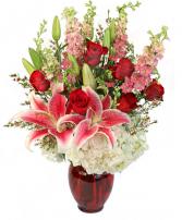 Luxurious Roses, Stargazers & Hydrangeas
