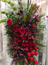 Luxurious Tribute Tribute, Sympathy Standing Spray