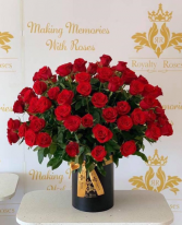 Luxury 100 premium Roses  Cylinder Tall Box Roses
