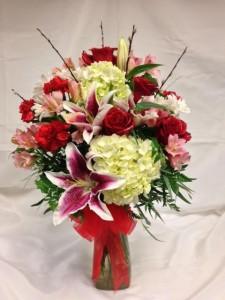 Luxury Endless Romance Vase Arrangement in Detroit Lakes, MN | DETROIT LAKES FLORAL