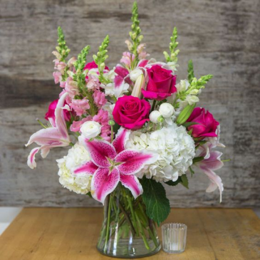 Luxury in Pink Fresh Floral Arrangement