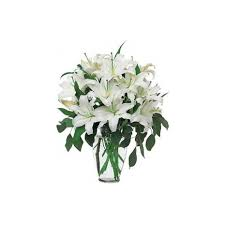 Luxury Lilies vase arrangement in Lebanon, NH | LEBANON GARDEN OF EDEN FLORAL SHOP