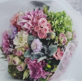 Luxury Pastel Wrapped Bouquet