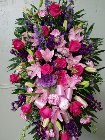 Luxury Pinks & Purples Standing Spray