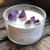 Luxury Quartz Candle, Sandalwood & Warm Amber Candle