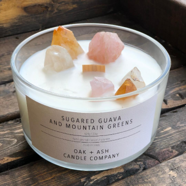 Luxury Quartz Candle, Sugared Guava and Mountain G Candle