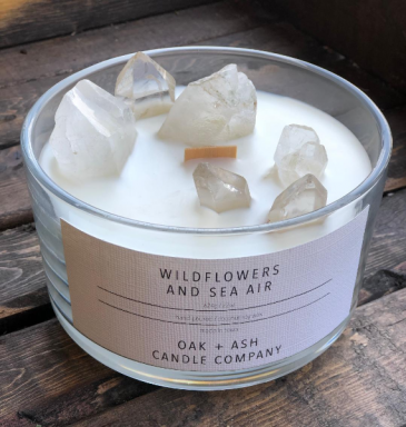 Luxury Quartz Candle, Wildflowers & Sea Air Candle