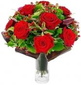 LUXURY RED ROSES ARRANGEMENT