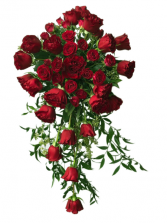 Luxury Red Roses Bouquet Bride's Bouquet