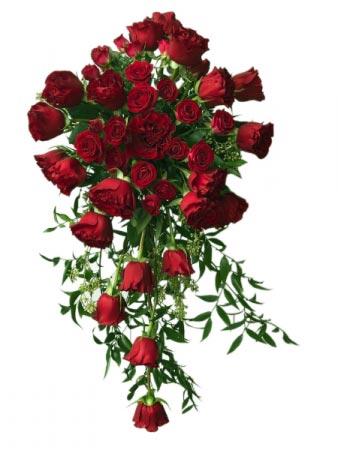 Luxury Red Roses Bouquet Bride's Bouquet