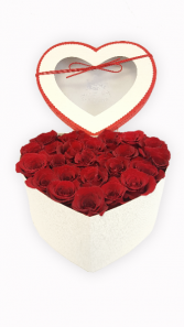 Luxury Roses Arrangement in Heart Shaped Box