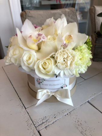 Lovely Whites Flower Box  Assorted Flowers