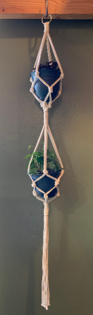 Macrame with polka dot plant and ivy Plant
