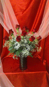 R12RD Mad About Red Valentine Arrangement