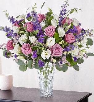 Mad Love in Lavender  Mixed Floral Arrangement