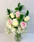 Mixed Roses and Hydrangea Vase Rose Colors May Vary