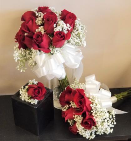 Red Rose Wedding Bouqet.Bloomshop