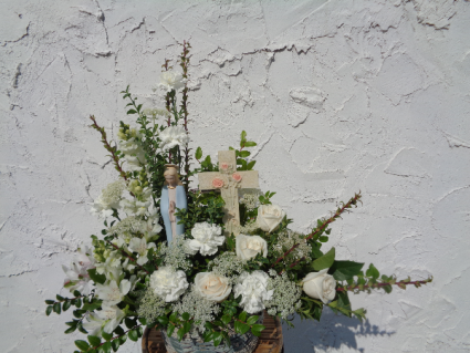 Madonna/Angel with Cross Arrangement (local delivery only)