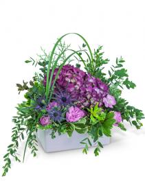 Magenta Forest Flower Arrangement