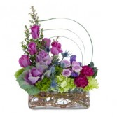 Magenta Magic Arrangement in Naugatuck, CT | TERRI'S FLOWER SHOP