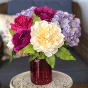 Magenta Magic Silk Floral Arrangement  in Mattapoisett, MA | Blossoms Flower Shop
