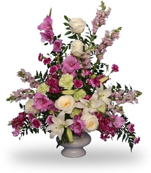 MAGENTA SUNSET URN ARRANGEMENT