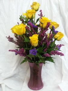 Magenta Sunshine Yellow Roses