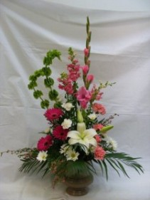 Magenta Tranquility Funeral Flowers