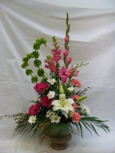 Magenta Tranquility Funeral Flowers in Fredericton, NB | GROWER DIRECT FLOWERS LTD