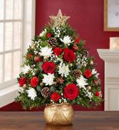 Magic of Christmas  Holiday Flower Tree