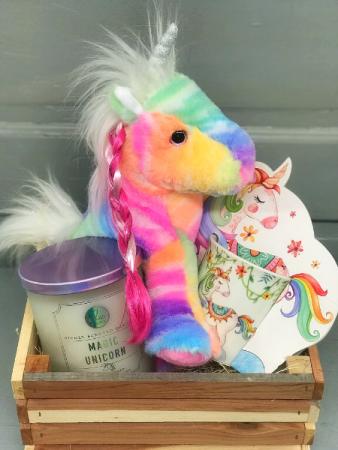 Magic Unicorn Crate  Gift Basket