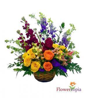 Magical Basket Flower Basket in Miami, FL | FLOWERTOPIA