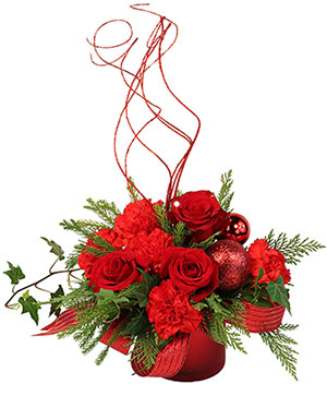 Magical Christmas Floral Design in Farmland, IN | AARO'S FLOWERS
