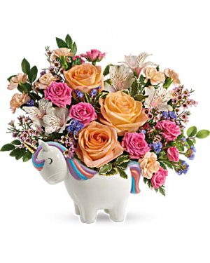 Magical Garden Unicorn Bouquet in Riverside, CA | Willow Branch Florist of Riverside