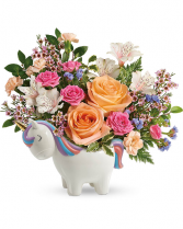 Magical Garden Unicorn Flower Arrangement
