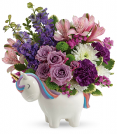 Magical Mood Unicorn Bouquet All-around floral arrangement