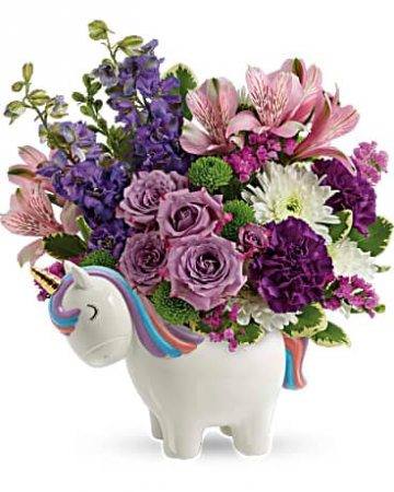 Magical Mood Unicorn Flower Arrangement