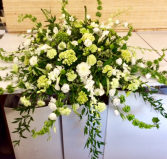 Magnificent Green and White Casket Spray
