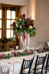 Magnificent in Merlot Tower vase for reception