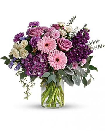 Magnificent Mauves Bouquet vase
