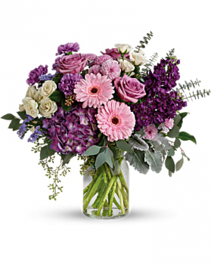 Magnificent Mauves  Vase arrangement in Bethel, CT | BETHEL FLOWER MARKET OF STONY HILL